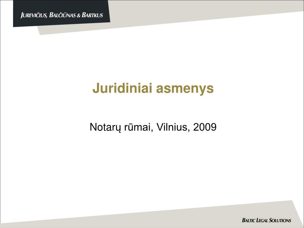 juridiniai asmenys l.