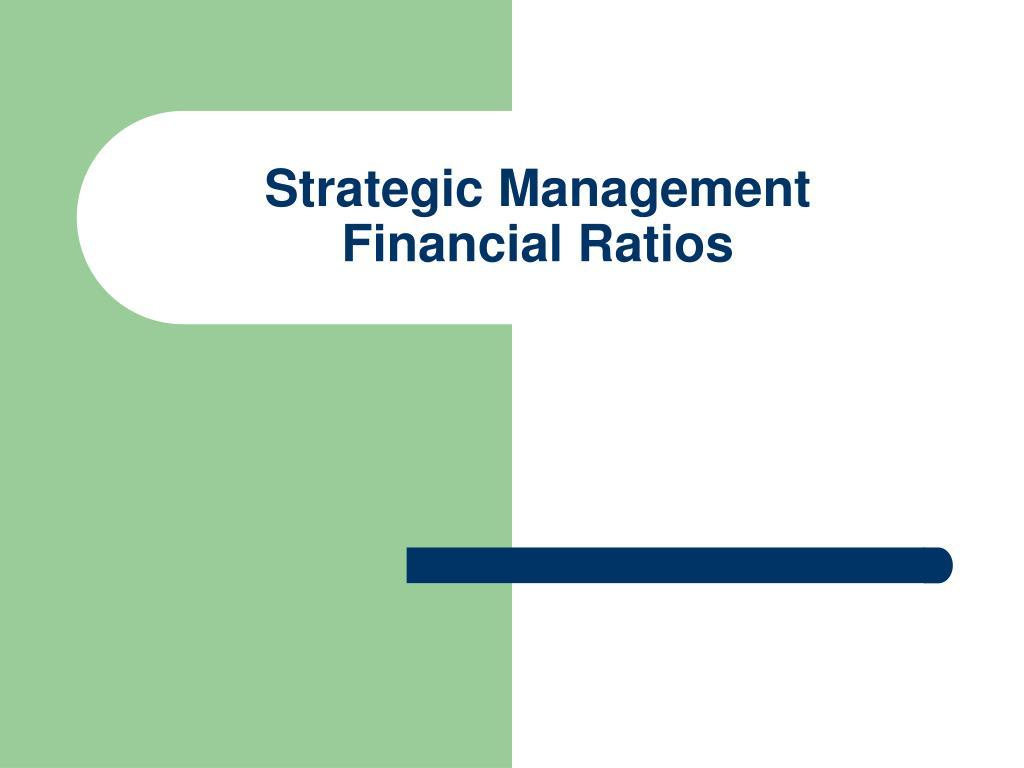 strategic management financial ratios l.