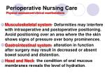 perioperative nursing care physical assessment clinical manifestations2