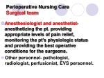 perioperative nursing care surgical team1
