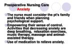 preoperative nursing care anxiety