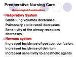 preoperative nursing care gerontological considerations1