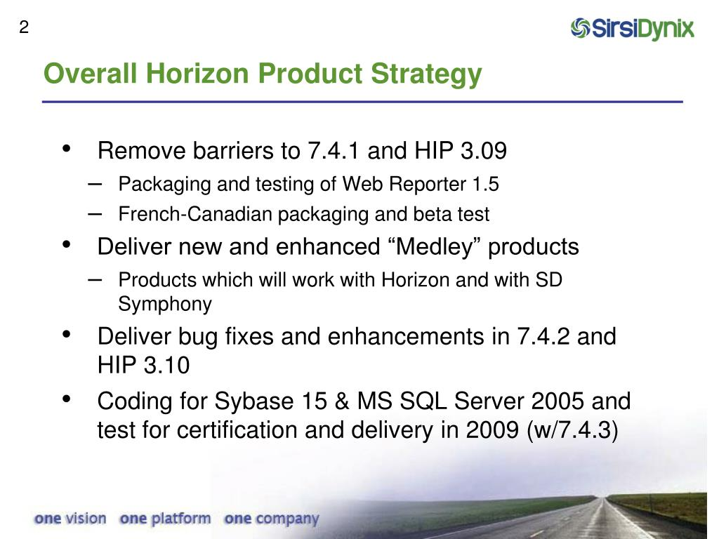 Overall Horizon Product Strategy