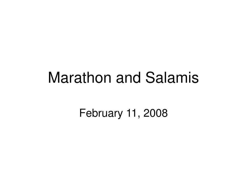 marathon and salamis l.