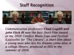 staff recognition