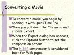 converting a movie