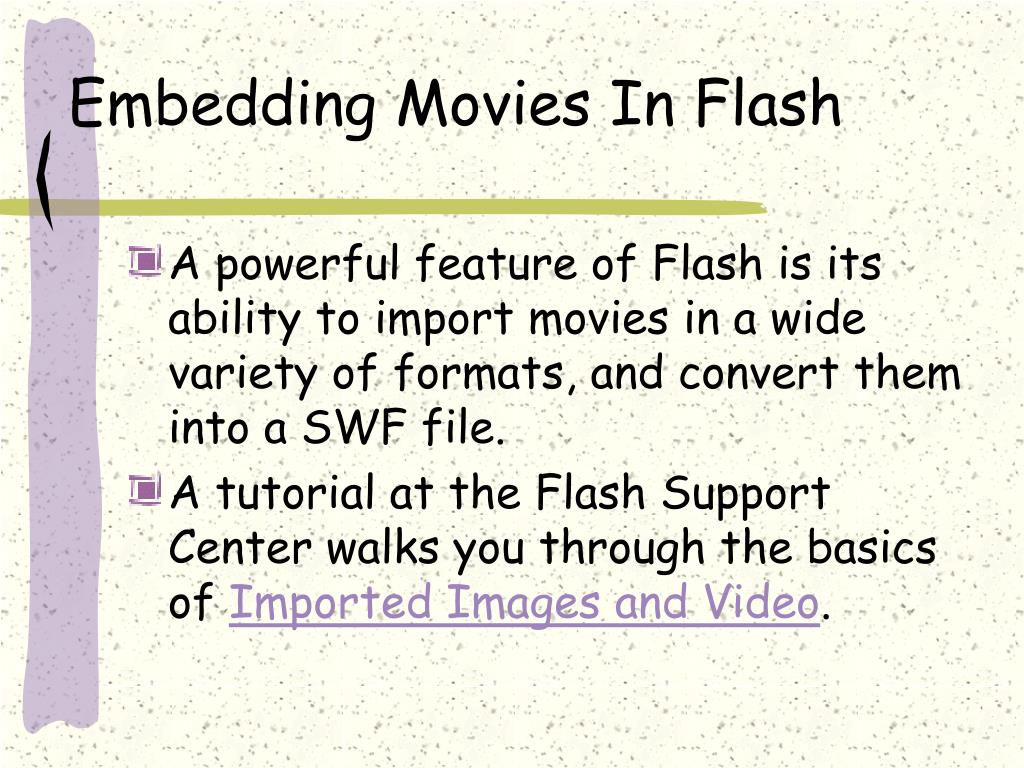 Embedding Movies In Flash