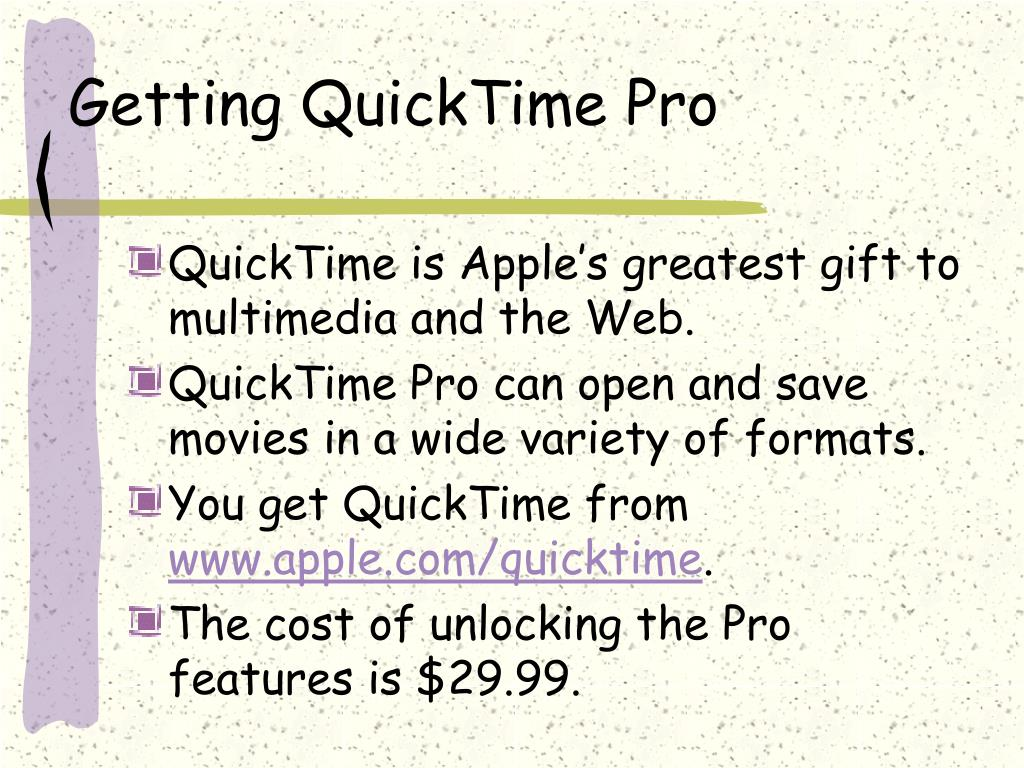 Getting QuickTime Pro