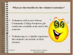 what are the benefits for the volunteer notetaker