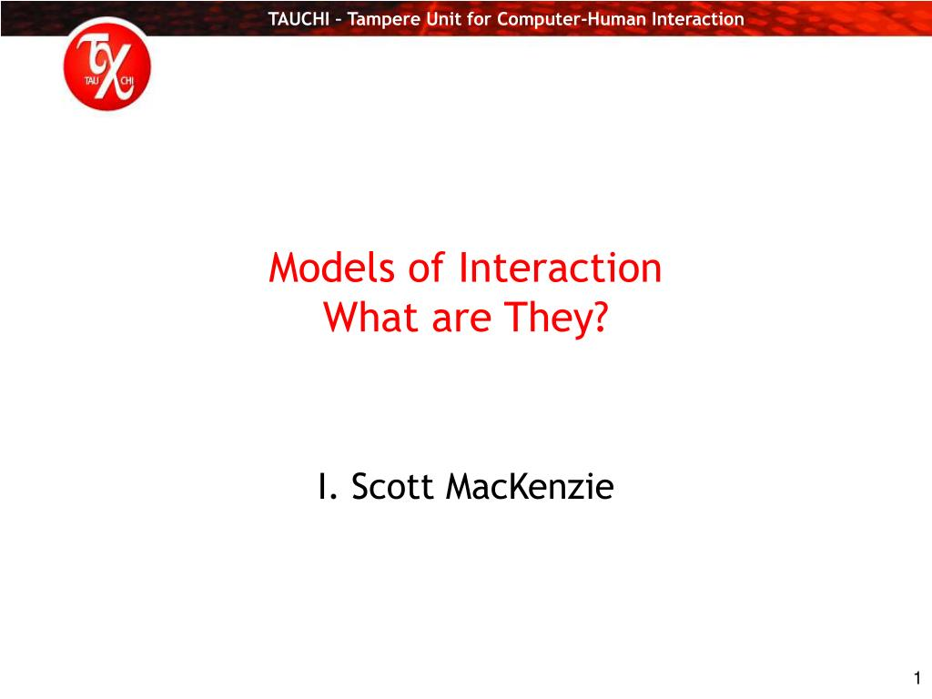 models of interaction what are they