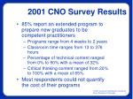 2001 cno survey results