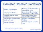 evaluation research framework