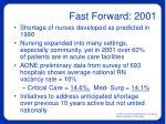 fast forward 2001