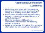 representative resident comments