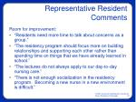 representative resident comments33