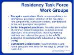 residency task force work groups8