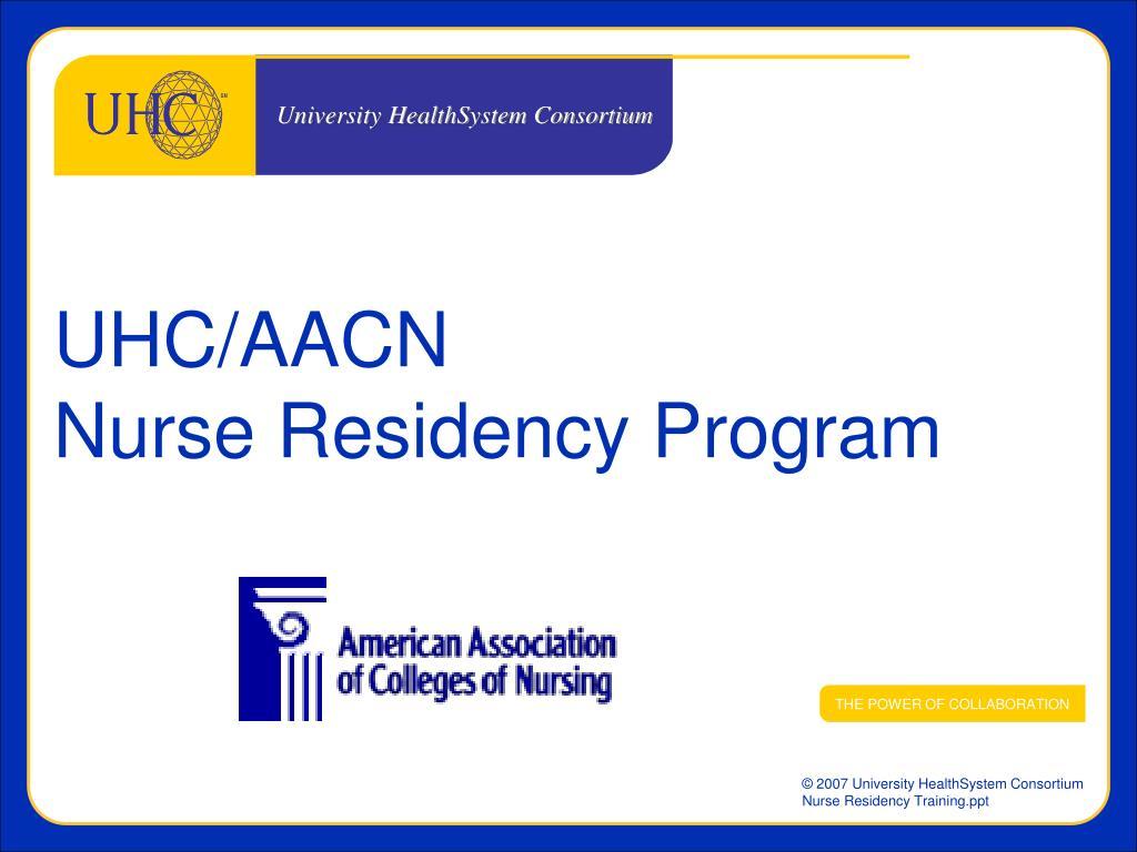 uhc aacn nurse residency program l.