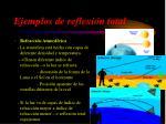 ejemplos de reflexi n total