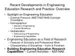 recent developments in engineering education research and practice overview38