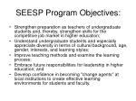 seesp program objectives