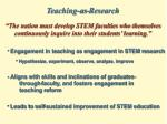 teaching as research