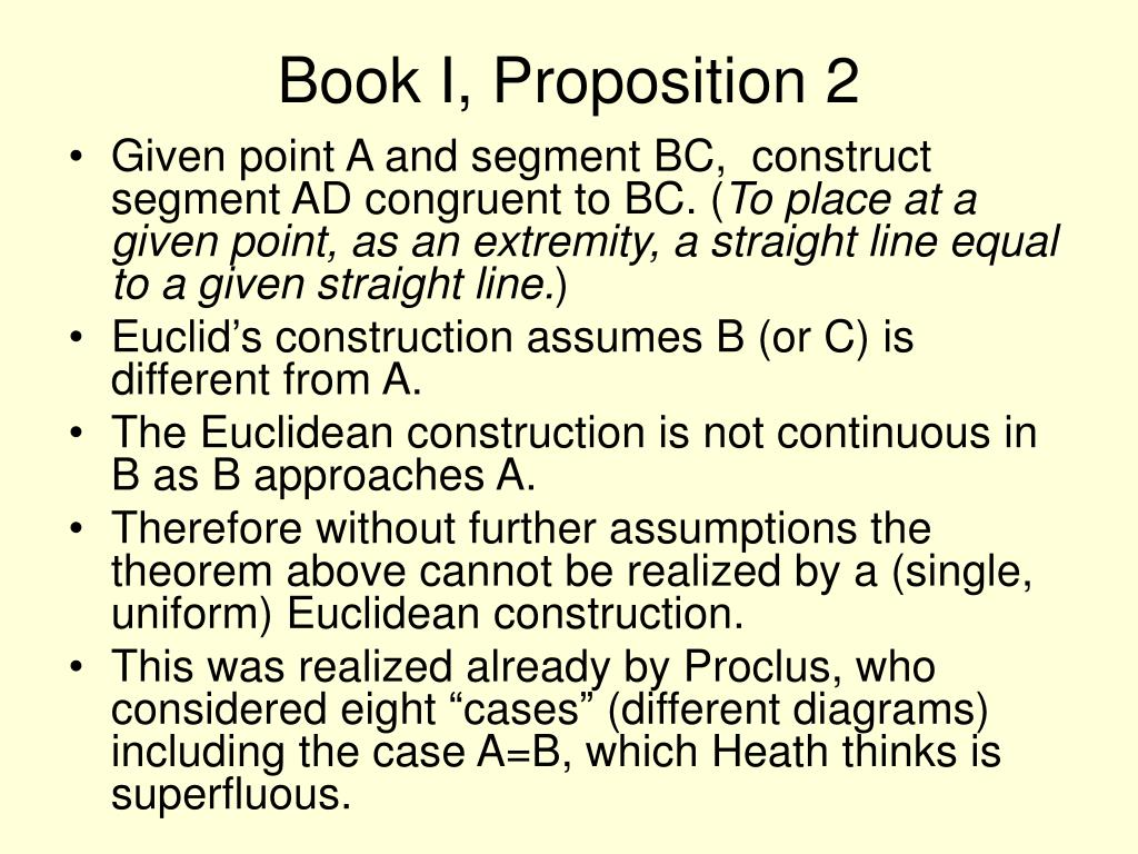 Book I, Proposition 2