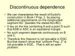 discontinuous dependence