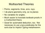 multisorted theories