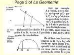 page 2 of la geometrie