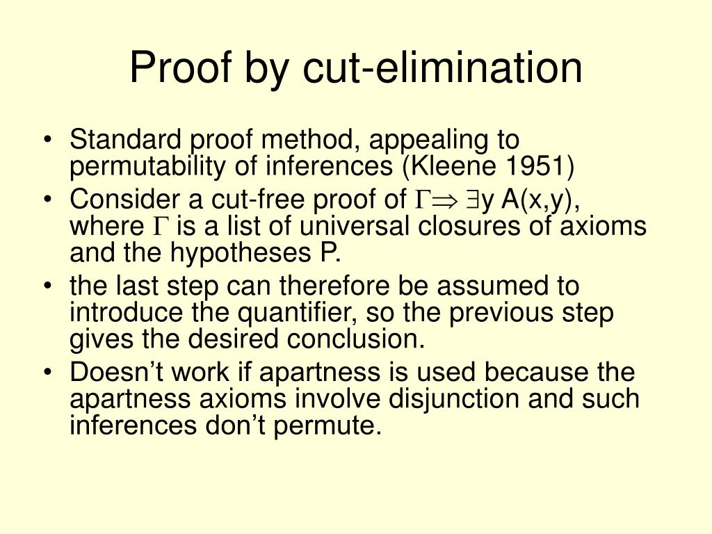 Proof by cut-elimination