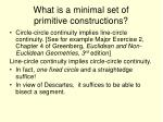 what is a minimal set of primitive constructions