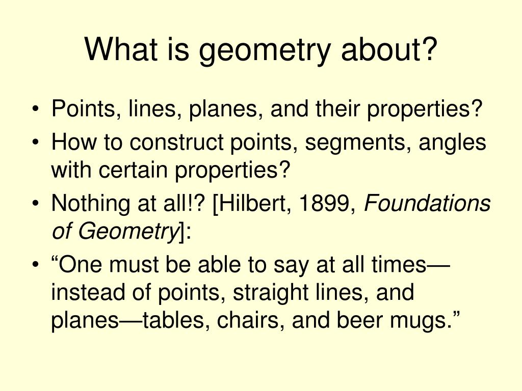 What is geometry about?