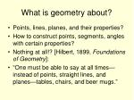 what is geometry about