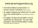 www dynamicgeometry org