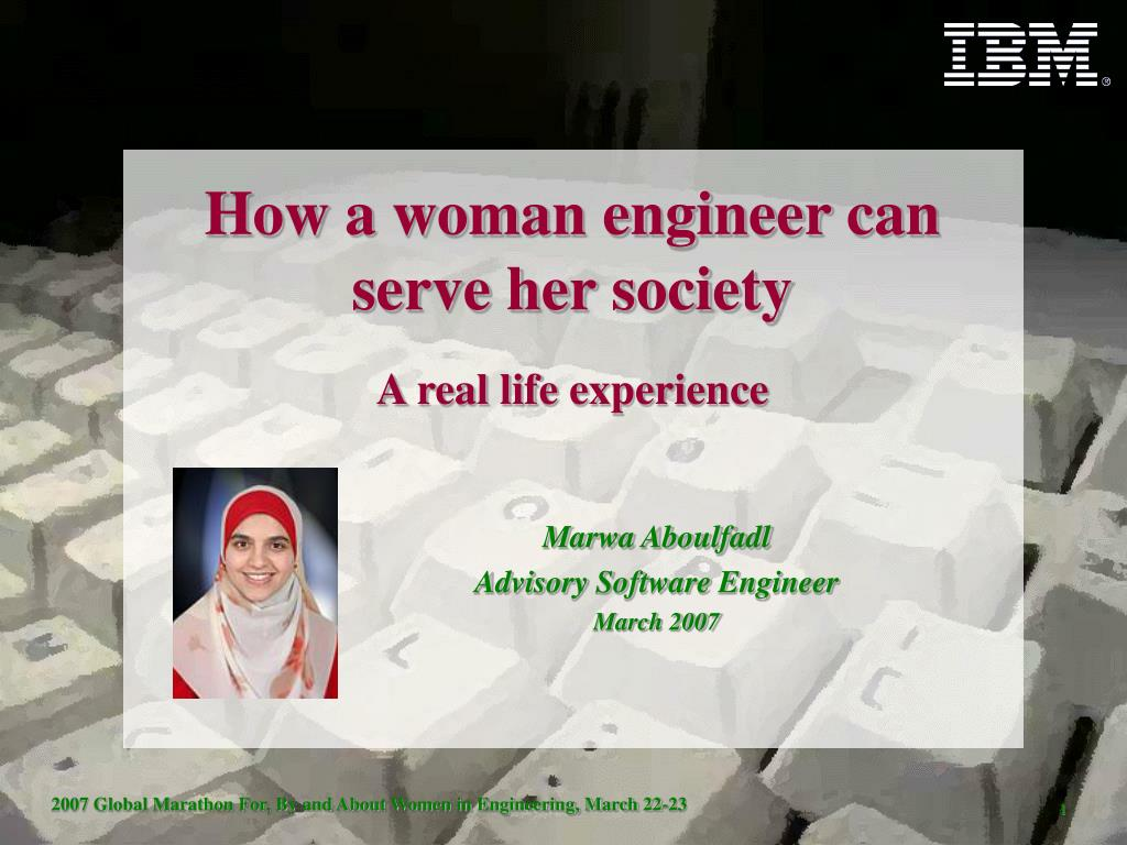 how a woman engineer can serve her society a real life experience l.