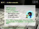 rtc achievements