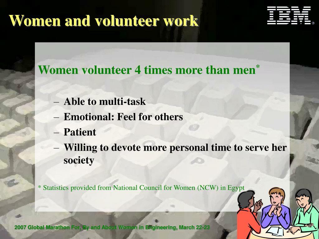 Women and volunteer work