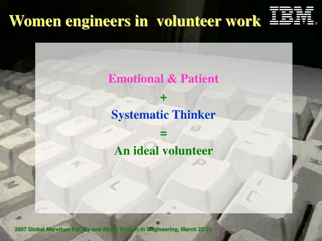 Women engineers in  volunteer work