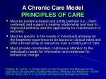 a chronic care model principles of care