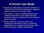a chronic care model