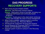 das progress recovery supports