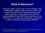 what is recovery