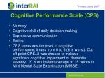 cognitive performance scale cps