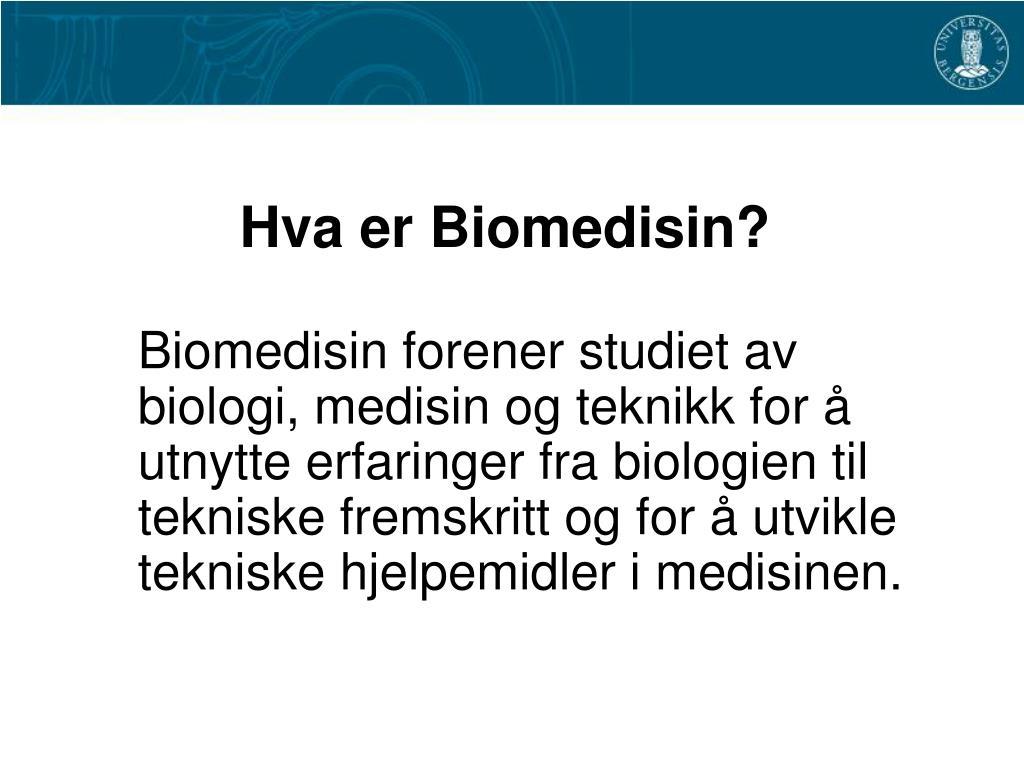 hva er biomedisin l.