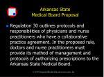arkansas state medical board proposal