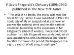 f scott fitzgerald s obituary 1896 1940 published in the new york times