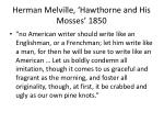 herman melville hawthorne and his mosses 1850