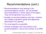 recommendations cont14
