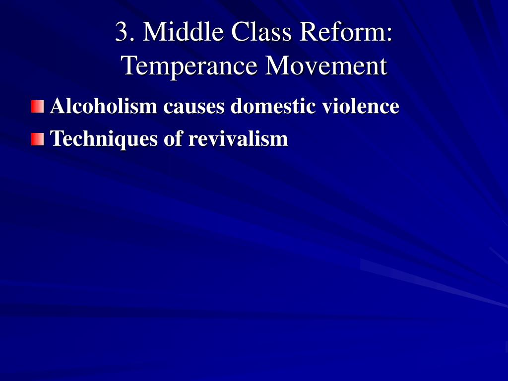 3. Middle Class Reform: