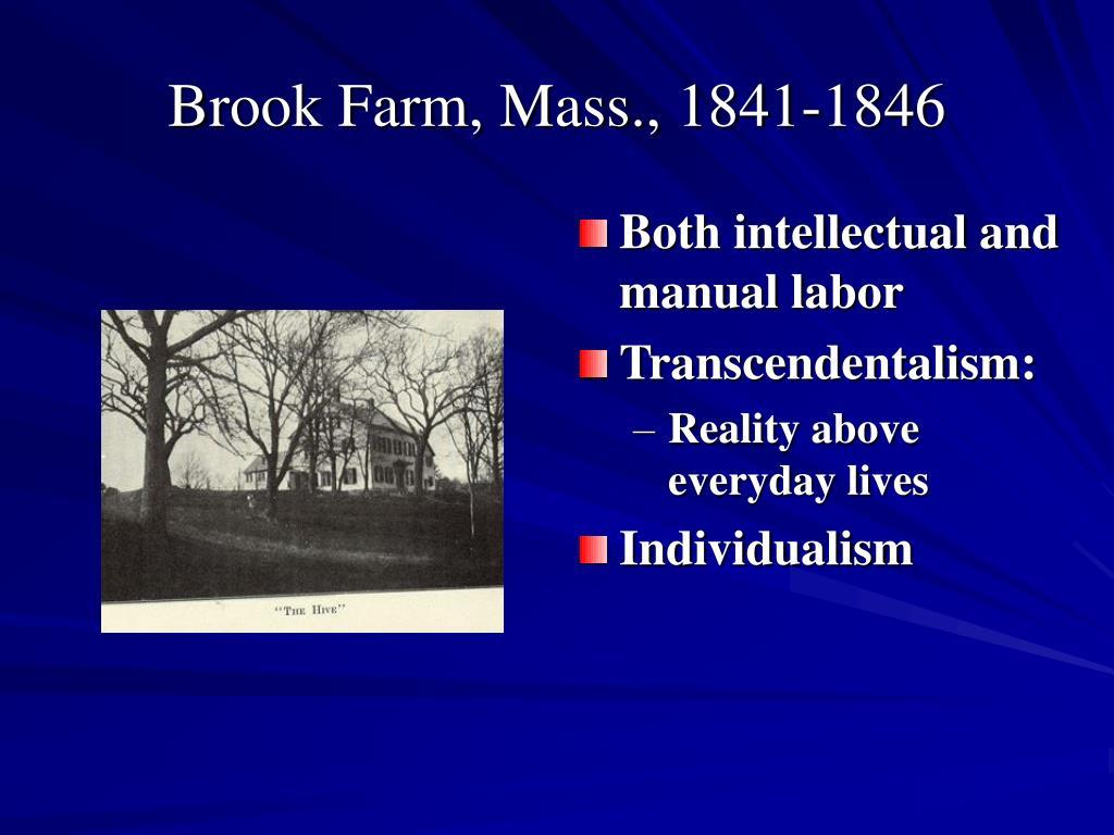 Brook Farm, Mass., 1841-1846